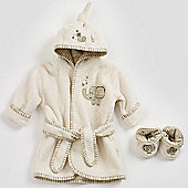 Natures Purest Sleepy Safari Bathrobe & Slippers