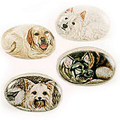 Small Pet Pebble Ornaments - Set of Four