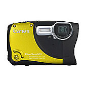 Canon D20 Digital Camera, Yellow, 12.1MP, 5x Optical Zoom, 3.0 inch LCD Screen
