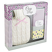 Cosy Days Hot Water Bottle & Hot Chocolate Set