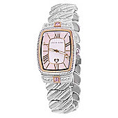 Judith Ripka Ladies Stainless Steel CZ Stone, MOP Dial, Date Watch WA000303-S