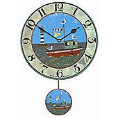 Roger Lascelles Clocks Henry's Boat Pendulum Wall Clock