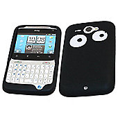 iTALKonline SoftSkin Silicone Case - HTC Cha Cha (Black Eyes)