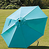 SunTime 2.7m Milano Push Up Parasol - Aqua Blue