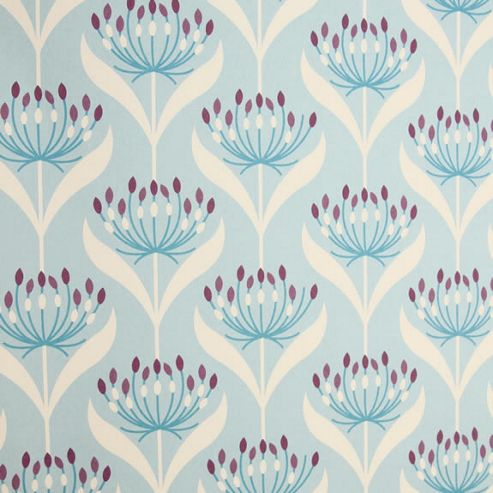 Rosehip Gift Wrap - Blue Flowers