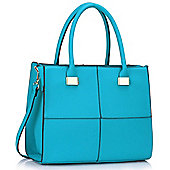 KCMODE Womens Teal Fashion Tote Handbag