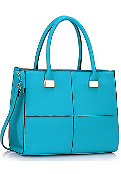 KCMODE Womens Teal Fashion Tote Handbag