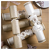 Gold and Pink Fan Luxury Christmas Crackers, 6 pack