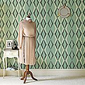 Graham & Brown Vintage Deco Diamond Wallpaper