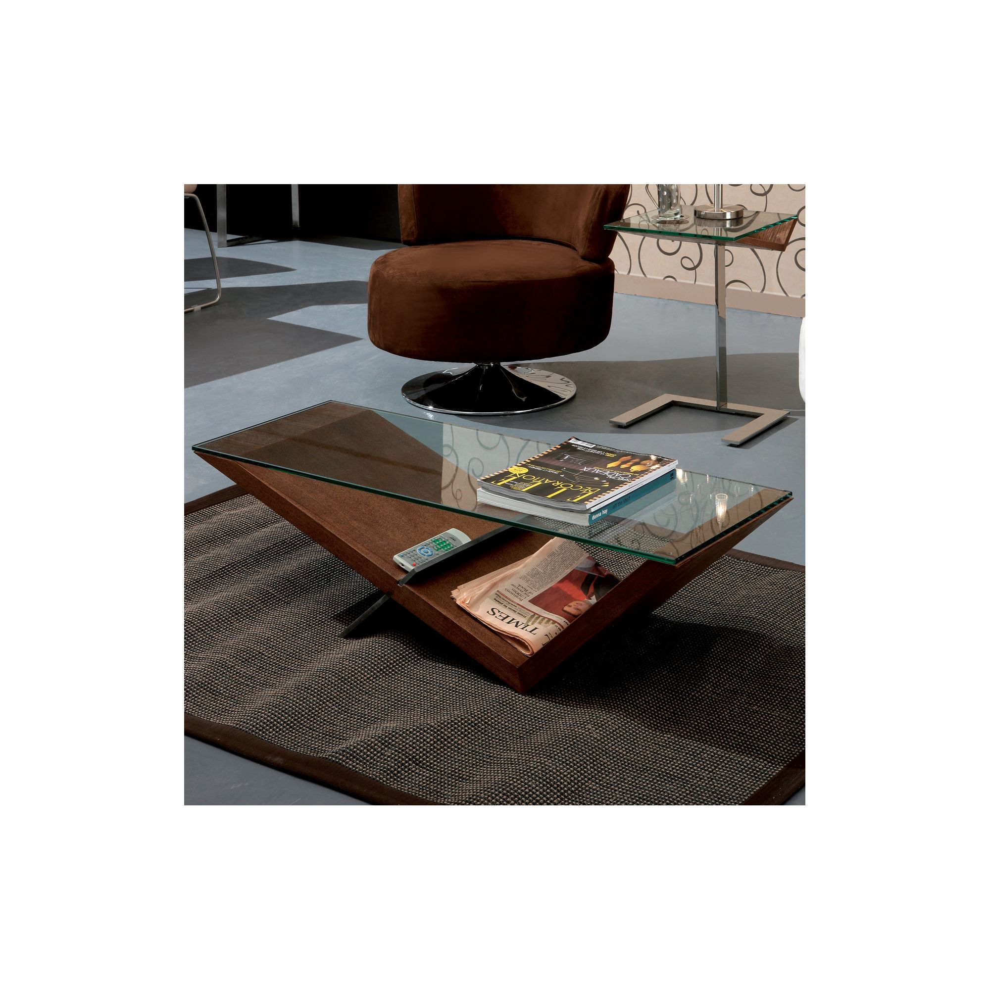 Gillmore Space Gerrit Coffee Table - Walnut at Tescos Direct