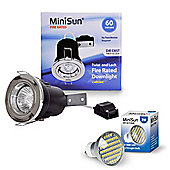 MiniSun Die Cast Twist & Lock LED GU10 Fire Rated Downlight in Chrome
