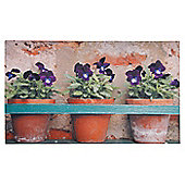 Fallen Fruits Flower Pots Printed Doormat