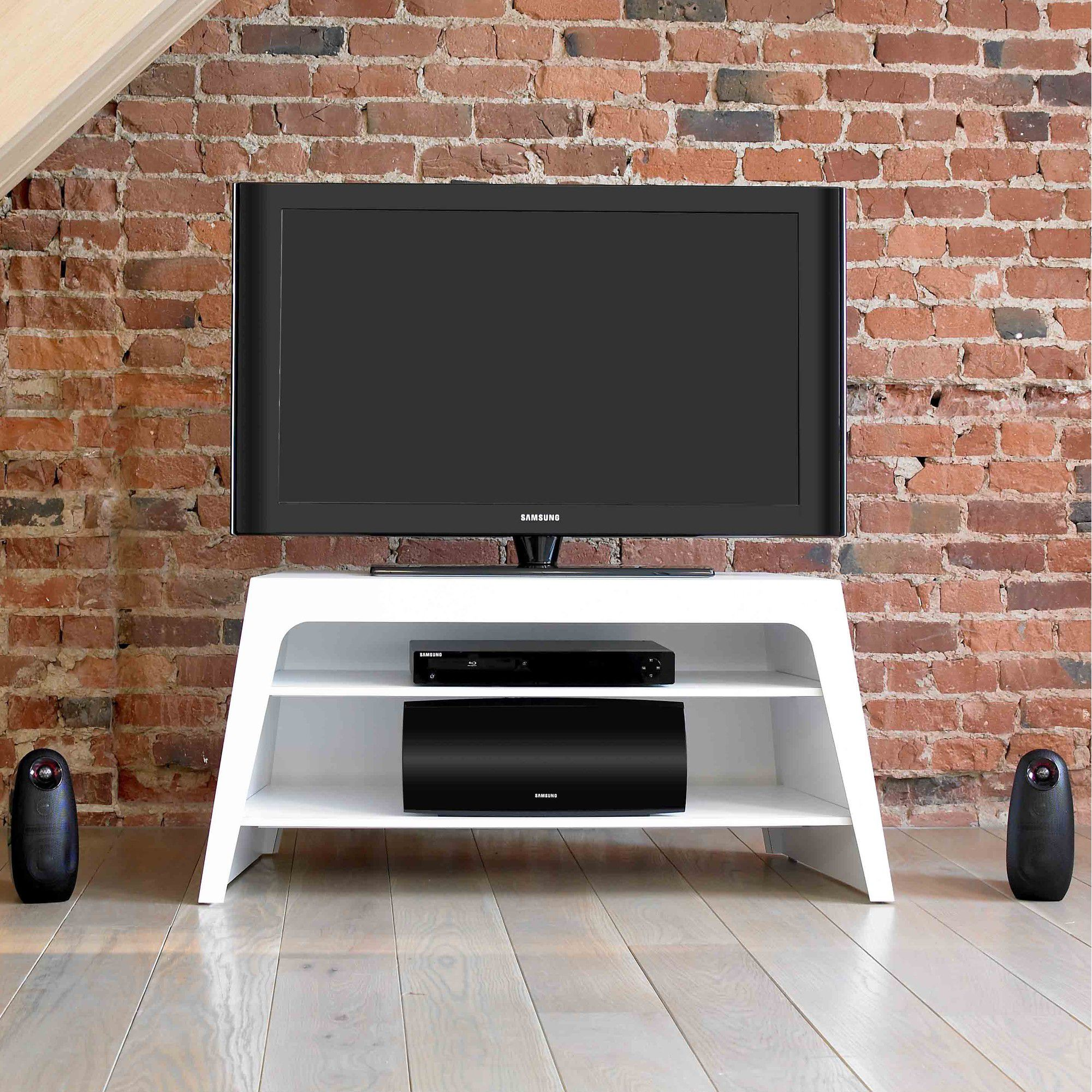 Mor Colorado TV Stand - Matt White at Tesco Direct