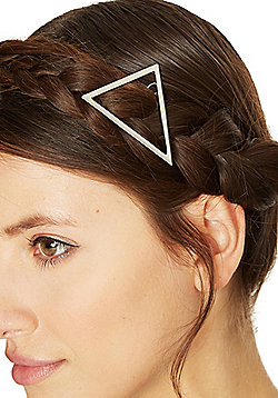 Pieces Metal Triangle Hairclip - Silver