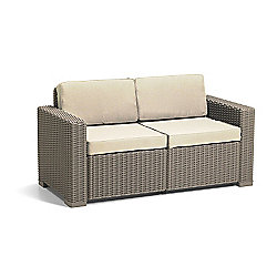 Allibert California 2 Seater Sofa - Cappuccino