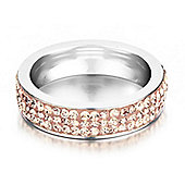 Shimla Ladies Rose Gold Stainless Steel Ring - SH-123SM
