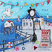Artistic Britain Dock On Pier by Susie Grindey Wall Art