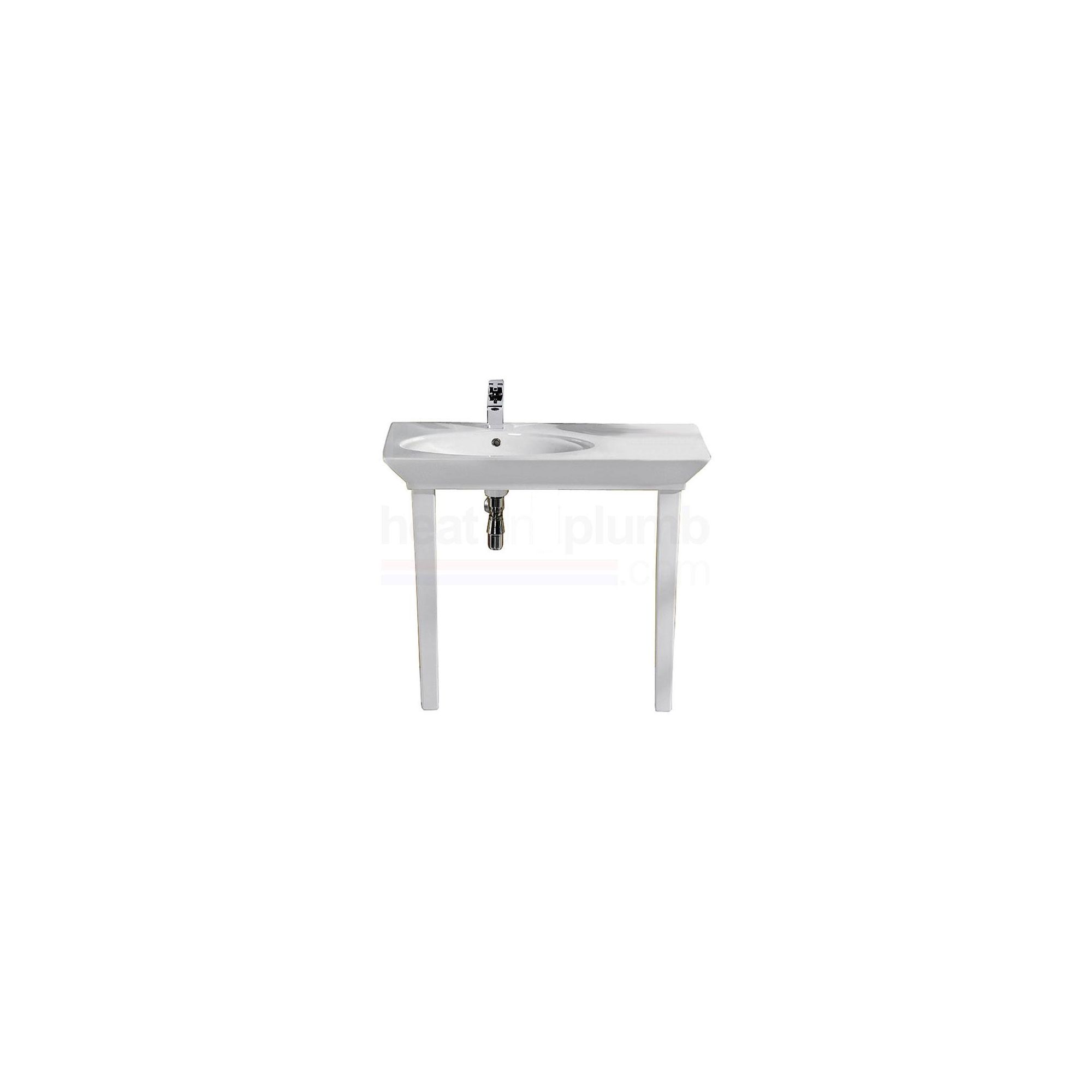 RAK Opulence White 'Her' 1 Piece Countertop Basin with Legs 800mm Wide at Tesco Direct