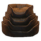 Top Pet Soft Suede Dog Bed - 58 cm