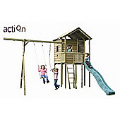 Gate Lodge Tower Climbing Frame with Swing