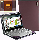 Broonel London - Profile Series - Purple Leather Luxury Laptop Case For Laptops up to 13 inches