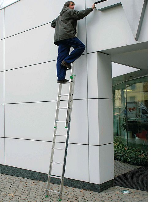 DIY 2.56m (8.4ft) Double Extension Ladder