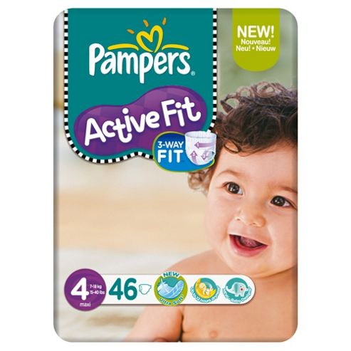Pampers Active Fit Economy Pack Maxi 46 (Size 4)