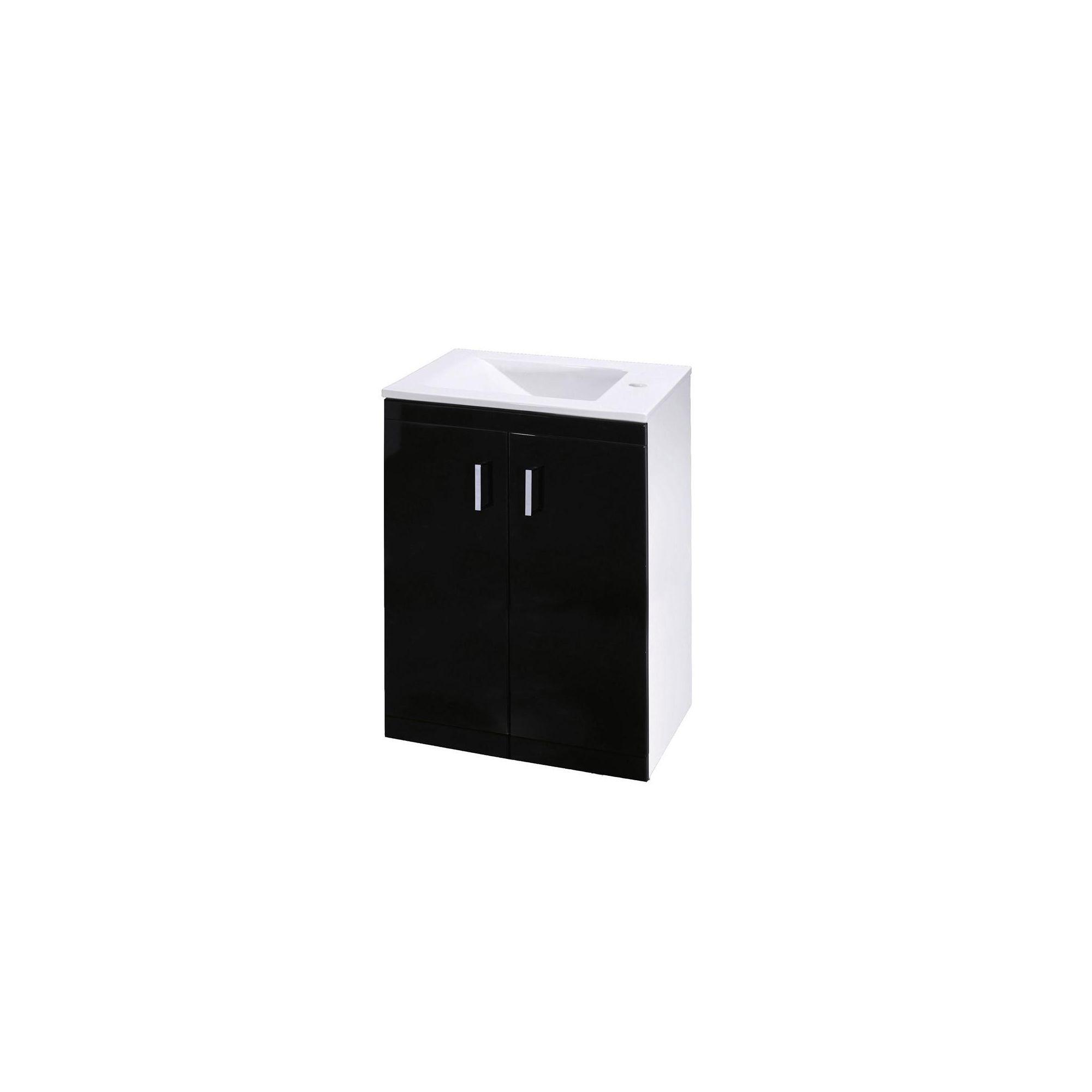 Premier Liberty Floor Standing 2 Door Unit High Gloss Black