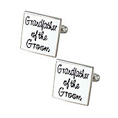 White Square - Grandfather of the Groom Wedding Cufflinks