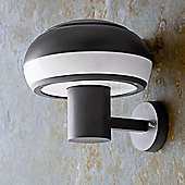 Faro Boletus One Light Outdoor Wall Lamp in Dark Grey