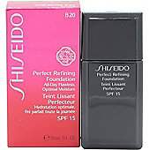 Shiseido Perfect Refining Foundation SPF15 B20 Natural Light Beige 30ml