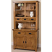 Farmhouse Rustic Solid Oak Small Dresser