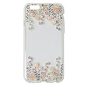 "Tortoiseâ""¢ Soft Protective Case,iPhone 6.Clear with Twirling Floral 3D Print."