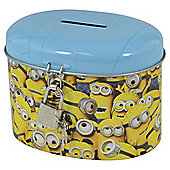 Minion small money tin with padlock