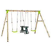 Plum Vervet Wooden Pole Swing Set