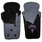 Cozyosko BuggyBag Footmuff (Black Stars/Charcoal Echidna)