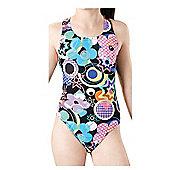Maru Party Pacer Rave Back Swimsuit - Black/Multi - Black