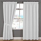 Julian Charles Naples White Lined Pencil Pleat Curtains - 44x72 Inches (112x183cm)