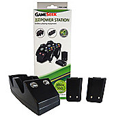 Twin Charging Cradle - Black (Xbox 360 Charge Dock +2 Rechargeable Batteries) - Xbox-360