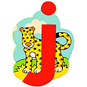 Bigjigs Toys BJL110 Wooden Magnetic Animal Letter Lowercase J (Designs Vary)
