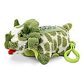 Pillow Pet Mini Dream Lite - Green Triceratops