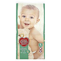 Tesco Loves Baby/Dry Size 4 Maxi Econ Pk 48