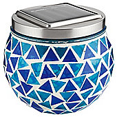 Tesco Blue Mosaic Solar Table Lamp