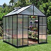 Palram Glory 8x8 -Silver Greenhouse - Polycarbonate and Aluminium Frame