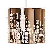 New York Skyline Ceiling Pendant Light Shade in Copper