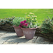 Pk 2 Planters with Matching Hanging Baskets