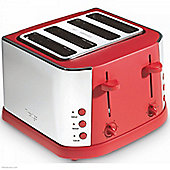 Prestige Electrical Eco 4 Slice Red Toaster