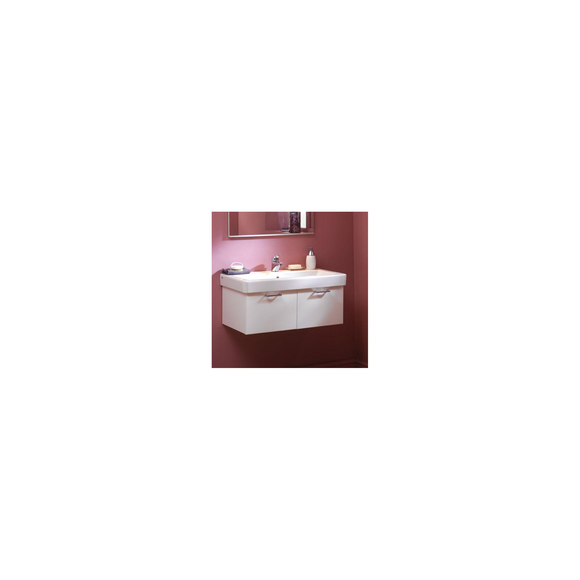 Duchy Trerise White Wall Hung 2 Drawer Vanity Unit and Basin - 800mm Wide x 445mm Deep