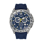 Jorg Gray Men's Watch JG8400-21 Silicone Strap Blue Dial