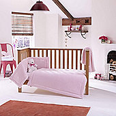 Clair de Lune 3pc Cot Bed Bedding Set (Honeycomb Pink)